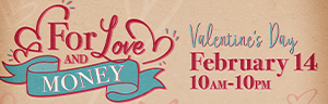 Image of the FOR LOVE AND MONEY promotion at Tulalip Bingo