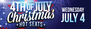 At Tulalip Bingo & Slots just north of Seattle near Marysville, WA on I-5 play the $1,2000 4th of July Christmas on the 4th of July!