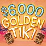 At Tulalip Bingo & Slots near Marysville, WA on I-5 play $6,000 Golden Tiki Hot Seat Drawings every Tuesday and Friday in August!