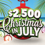 Play at Tulalip Bingo & Slots north of Seattle near Everett, WA on I-5 with the $2,500 Christmas in July hot seat drawings every Friday in July!