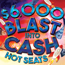 At Tulalip Bingo & Slots near Everett, WA on I-5 you can Blast into Cash Tuesdays and Fridays in July!