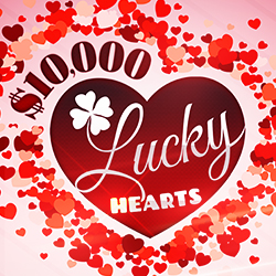 Enjoy Tulalip Bingo & Slots just north of Lynnwood on I-5 with $10,000 Lucky Hearts drawings Saturdays in February!
