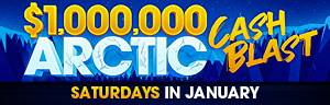 Image of the $1,000,000 ARCTIC CASH BLAST promotion at Tulalip Bingo