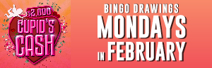 Two winners will be drawn prior to every half-time session for cash prizes up to $500 at Tulalip Bingo!