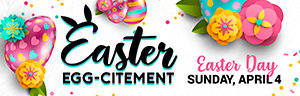 Happy Easter! Download the GO app in the Apple App Store or Android Google Play Store and crack open your Free Play gift up to $100 at Tulalip Bingo!