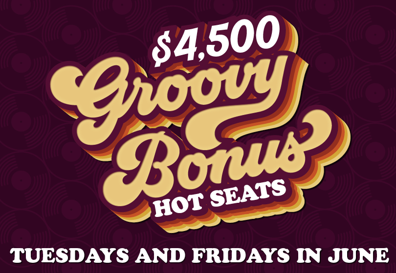 Get your grove on! Each half-time session two ONE card members playing slots, will to win up to $500 cash at Tulalip Bingo!
