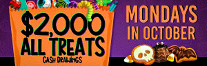 Join us at Tulalip Bingo every Monday for the $2000 All Treats drawings to win up to $500.