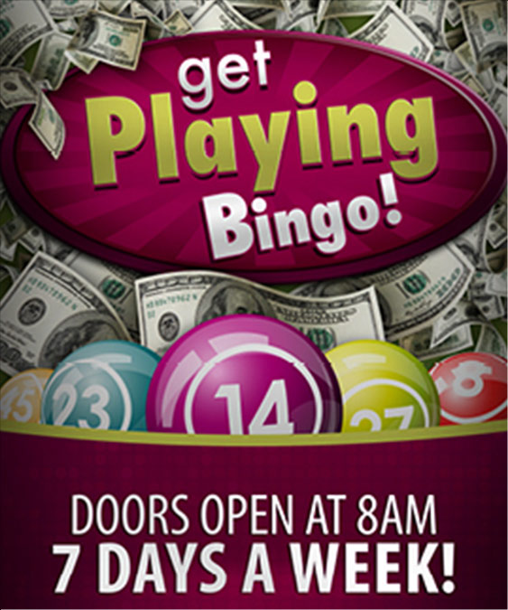 Get playing bingo 7 days a week at Tulalip Bingo just off I-5 north of Seattle (small image)