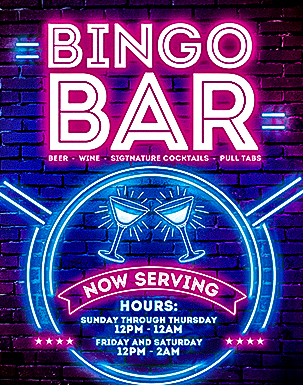 Quil Ceda Bar drinks are a bingo and slots player favorite at Tulalip Bingo near Marysville