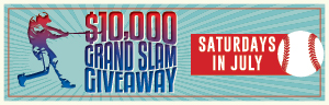 $10,000 GRAND SLAM GIVEAWAY promotion at Tulalip Bingo