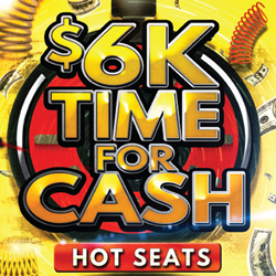 At Tulalip Bingo & Slots near Marysville on I-5 you can play the $6,000 Time for Cash Hot Seat Drawings Tuesdays and Fridays in September!