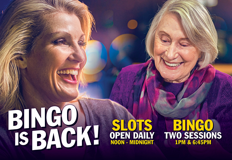 Bingo is now open daily Noon to Midnight in Tulalip only 15 minutes from Everett