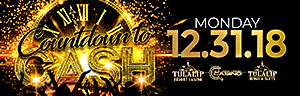 At Tulalip Bingo & Slots north of Edmonds and Kirkland on I-5 ring in the New Year with Countdown to Cash!