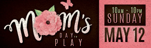 Come in to Tulalip Bingo & Slots north of Kirkland and Everett on I-5 to celebrate Mother's Day on Sunday, May 12, with Free Play and prizes!
