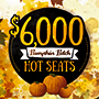 Tulalip Bingo & Slots celebrates Halloween every Tuesday and Friday in October with the $6,000 Pumpkin Patch Cash Hot Seat Drawings - we're located just off I-5 near Marysville north of Everett!