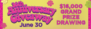 Come in to Tulalip Bingo & Slots north of Lynnwood and Edmonds on I-5 to enter the $16,000 ANNIVERSARY GRAND PRIZE DRAWING!