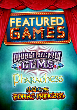 Come in to Tulalip Bingo & Slots to enjoy our featured premium video slot machines Double Jackpot Gems, Pharaohess, Zodiac Princess and more - located just north of Edmonds and Everett on I-5!