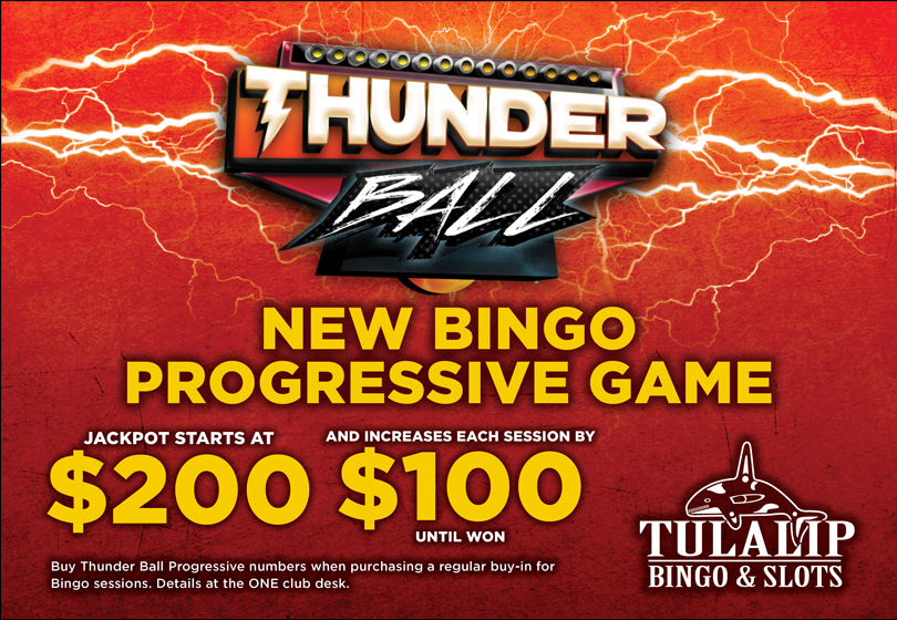 Thunder Ball progressive at Tulalip Bingo