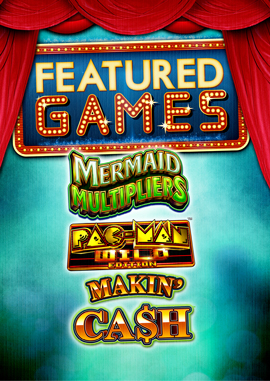 Come in to Tulalip Bingo & Slots to enjoy our featured premium video slot machines Mermaid Multipliers, Pac-Man Wild Edition, Makin' Ca$h and more - located just north of Edmonds and Everett on I-5!