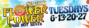 Come play at Tulalip Bingo north of Seattle near Seattle, WA on Tuesdays in June and enjoy $2,500 Flower Power Cash Hot Seats!