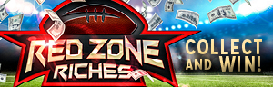 Play to win at Tulalip Bingo near Seattle, WA on I-5 on Sundays in the Redzone Riches Collect and Win contest!