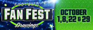 Come in to Tulalip Bingo just north of Seattle on I-5 and buy in to play the Football Fan Fest Drawing on game days!