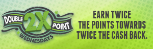At Tulalip Bingo near Marysville on I-5 earn twice the points towards twice the cash back on Wednesdays!